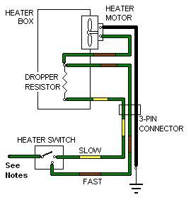Heater Fans | Two Switch Fan Resistor Wiring Diagram |  | Mgb Stuff