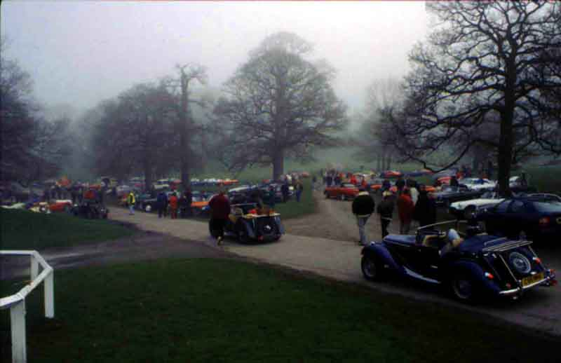Misty start at Chatsworth House