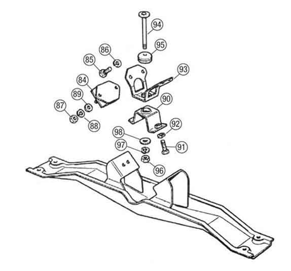 gearbox crossmember detail
